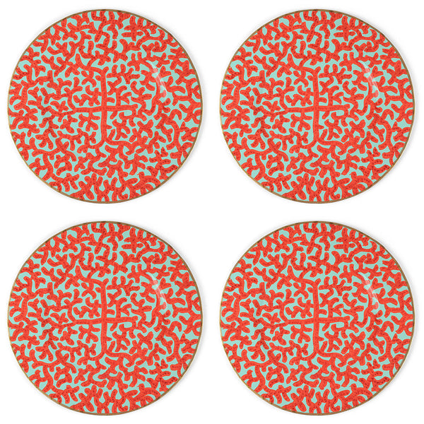 "Coral 14"" Charger Plate 4-Pack"