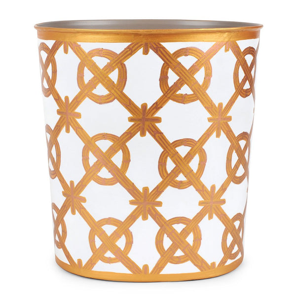 Trellis Large Oval Wastebasket