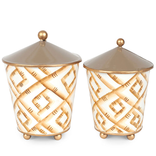 Bamboo Set of 2 Canisters