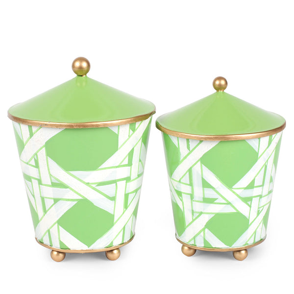 Cane Set of 2 Canisters