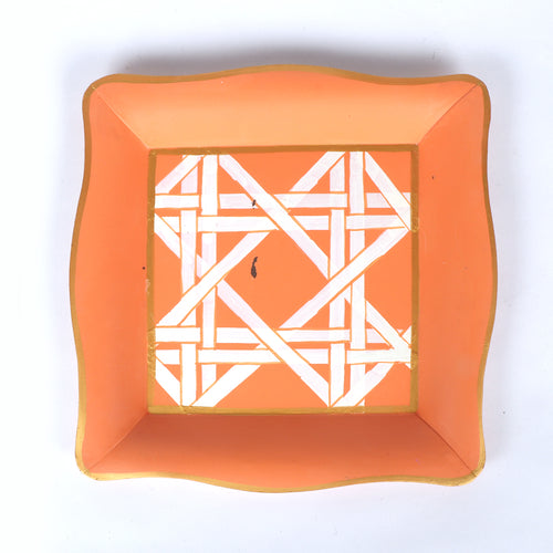"Sample Cane Orange Social Tray ""As-Is"""