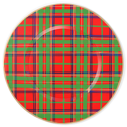 "Tartan Plaid Charger Set (4pk) ""As Is"""