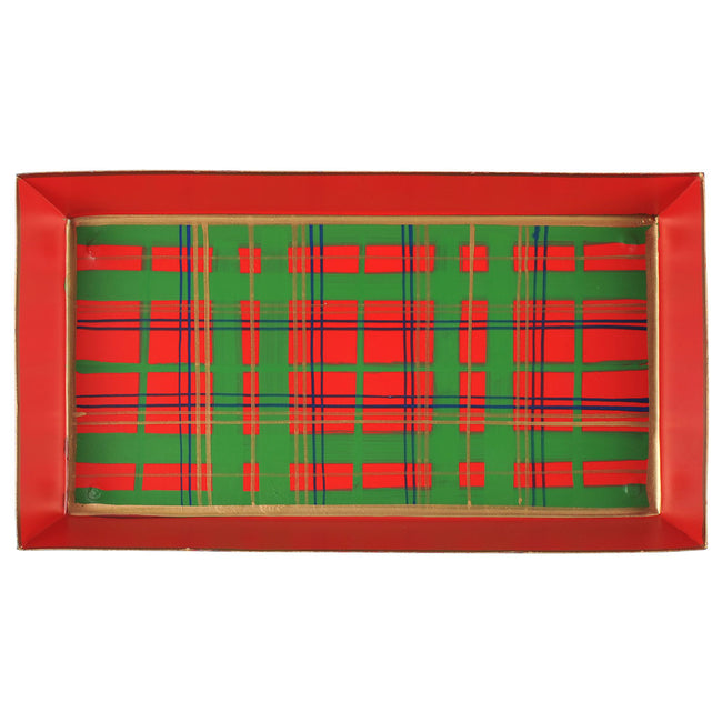 Tartan Plaid Guest Towel Tray