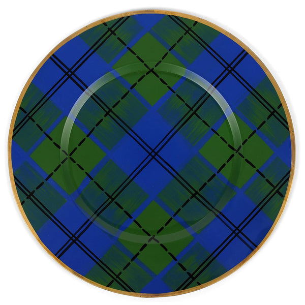 "Scottish Plaid 14"" Charger Plate 4-Pack"