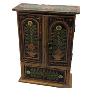 Antique Hand-Painted Multi-Drawer Jewelry Cabinet