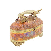 Antique Copper and Brass Dragon Box Catch All