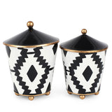 Aztec Set of 2 Canisters