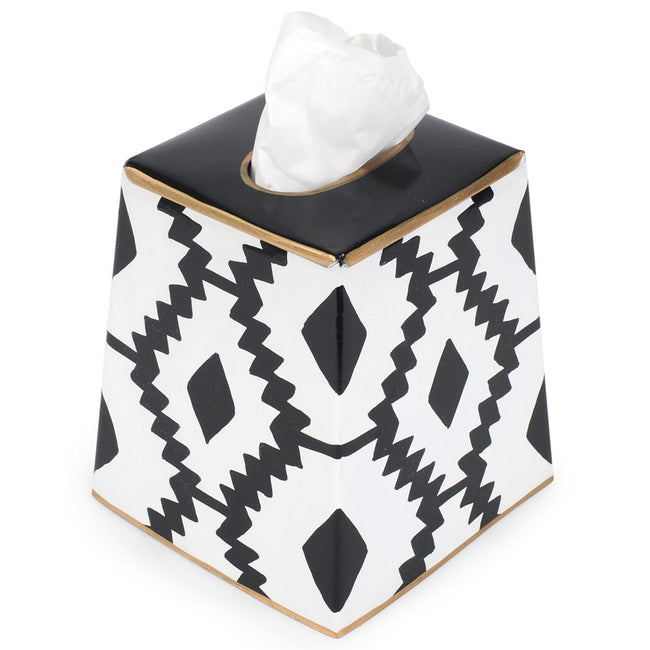 Aztec Green Tissue Box Cover