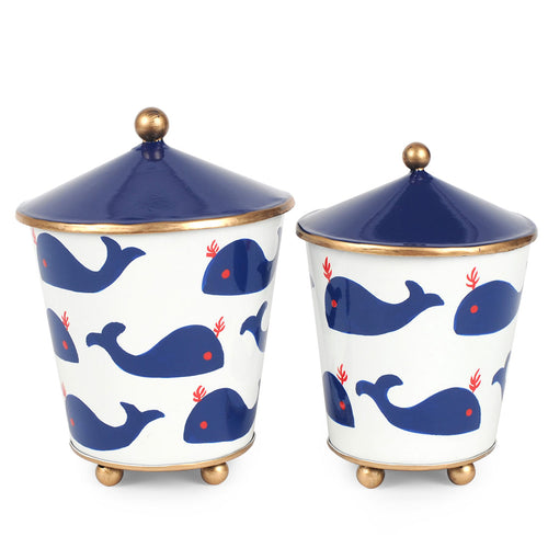 Whales Set of 2 Canisters