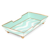 Breakers Aqua Guest Towel Tray