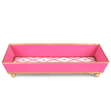 Brushed Stripe Guest Towel Tray