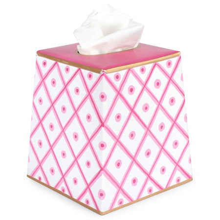 Choppy Seas Pink Tulip Wastebasket