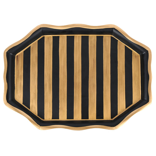 Brushed Stripe Tea Tray