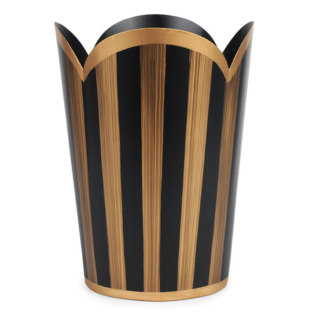 Color Block Oval Wastebasket