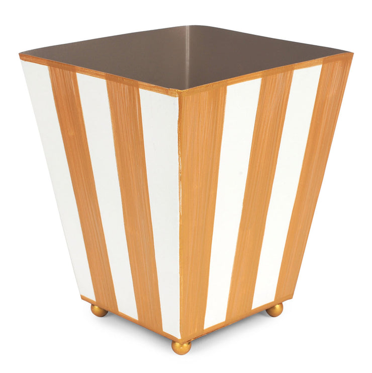 Brushed Stripe Square Cachepot