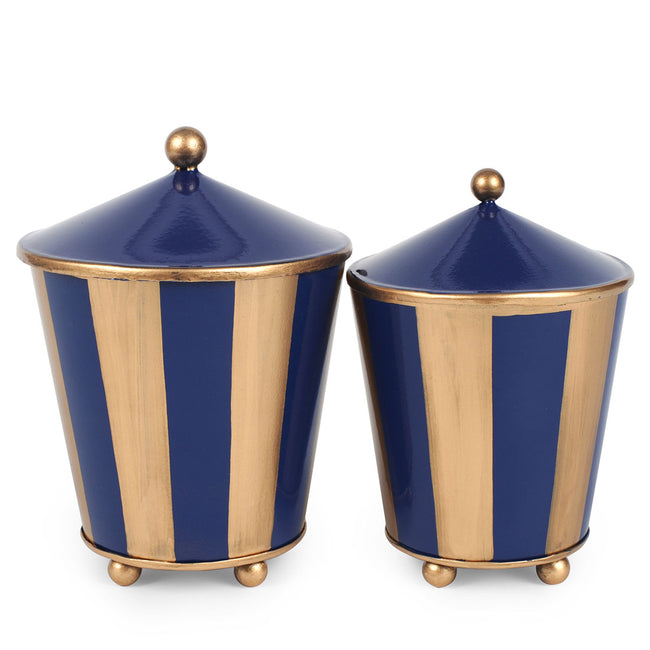 Brushed Stripe Set of 2 Canisters