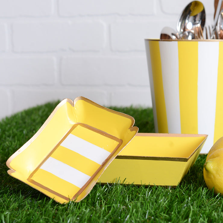 Vertical Yellow Stripe Trinket Tray