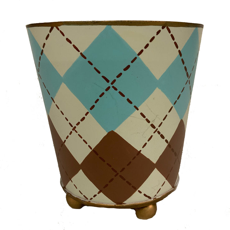 "Sample Argyle 4"" Cachepot ""As-Is"""