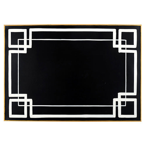Interlocking Key Black Placemat (4pk)
