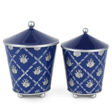 French Bee Navy Set of 2 Canisters