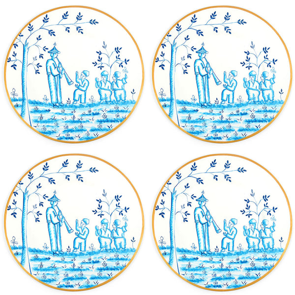 "Chinoiserie Blue 14"" Charger Plate 4-Pack"