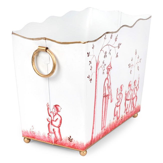 Chinoiserie Red Rectangle Magazine Holder