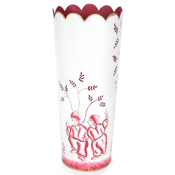 Chinoiserie Red Umbrella Stand