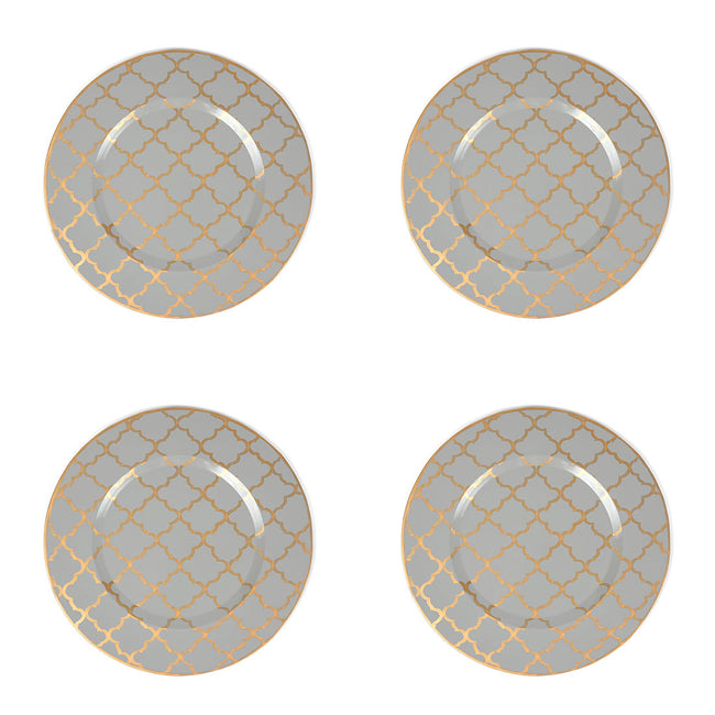 "Madeline Grey 11"" Charger Plate 4-Pack"