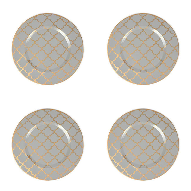 "Madeline Grey 11"" Charger Set (4pk) ""As Is"""