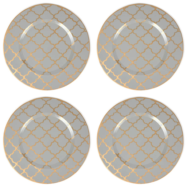 "Madeline Grey 14"" Charger Plate 4-Pack"