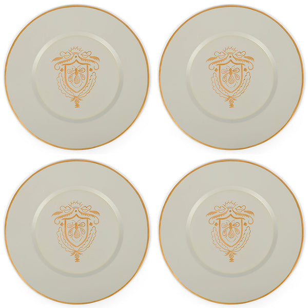 "Heritage Bee 14"" Charger Plate 4-Pack"