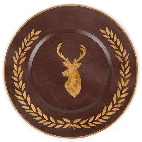 "Deer Laurel 14"" Charger Plate 4-Pack"