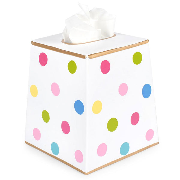 Multi Dot Tissue Box Cover