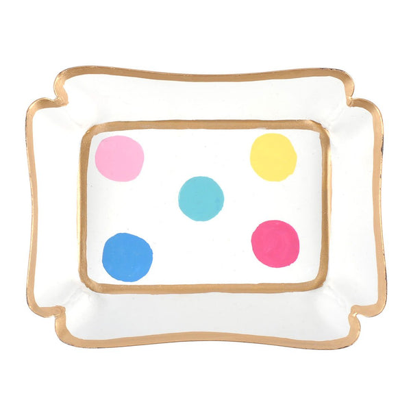 Multi Dot Trinket Tray