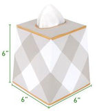 Brushed Stripe Tissue Box Cover