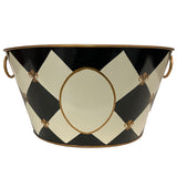 Sample Harlequin Fleur De Lis Tub with handles