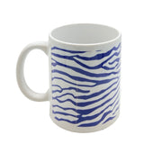 Navy Zebra Print Custom 11 Oz. Mug