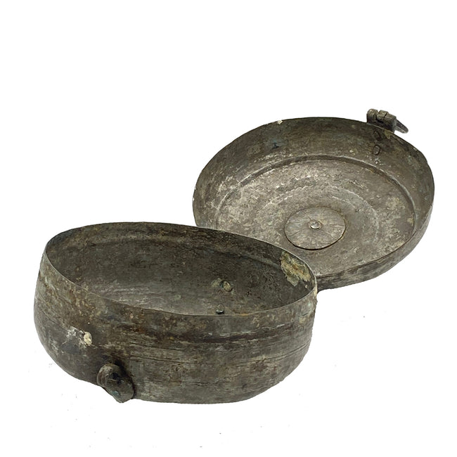 Antique Small Silver Chapati Box