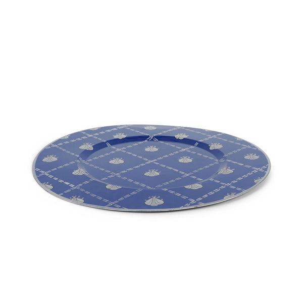 "French Bee Navy 11"" Charger Plate 4-Pack"