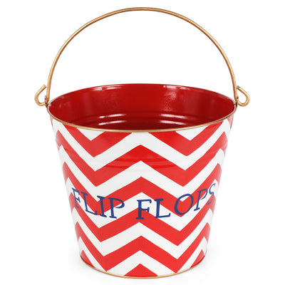 "Chevron Red ""FLIP FLOP"" Pai"