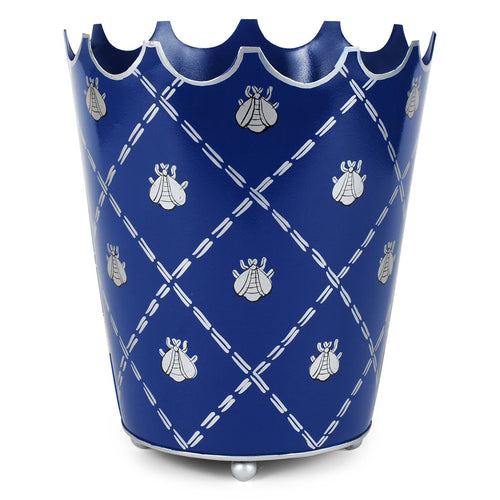 French Bee Navy Crown Wastebasket