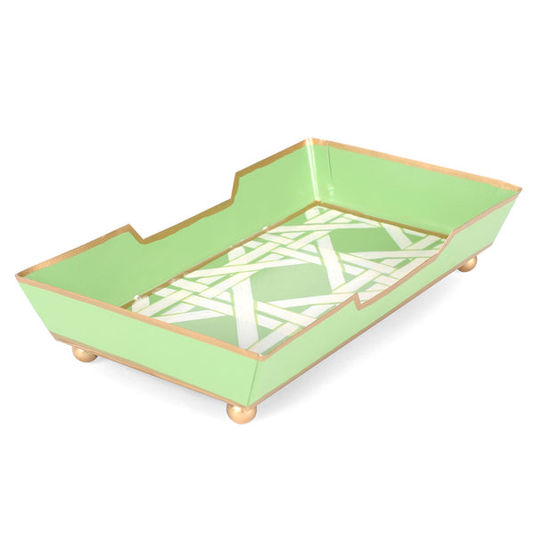 Cane Guest Towel Tray