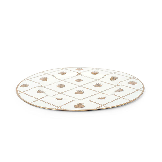 "French Bee Cream 11"" Charger Plate 4-Pack"