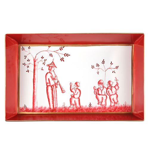 Chinoiserie Red Organizing Tray