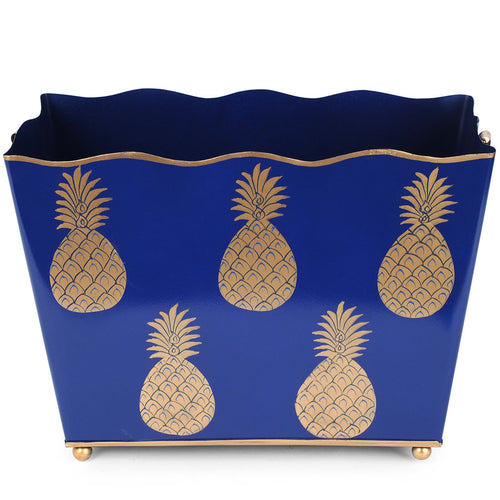 Pineapple Navy Magazine Holder