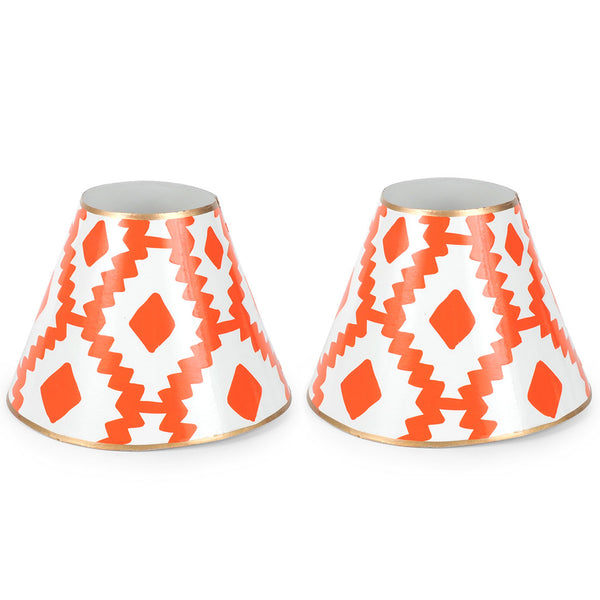 "Aztec Orange Set of Two 4"" Shades"