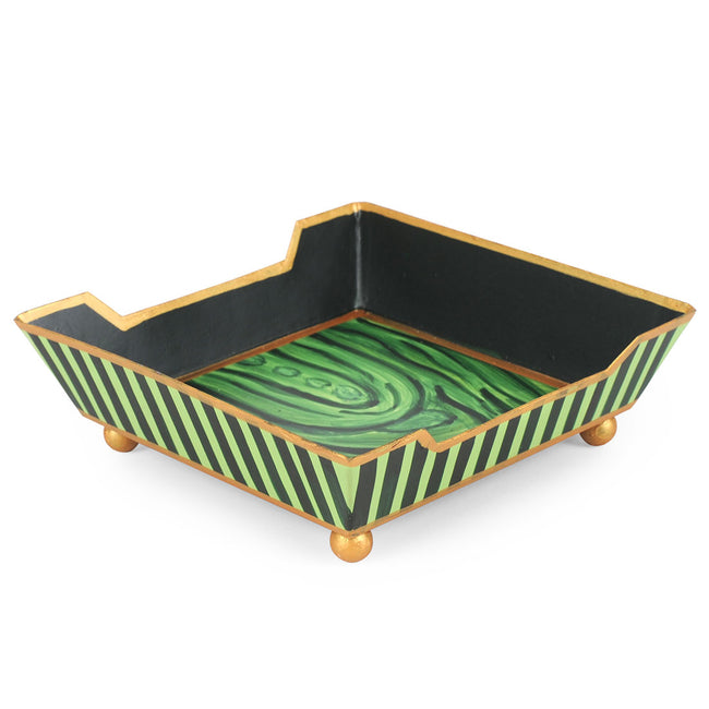 Malachite Cocktail Napkin Tray