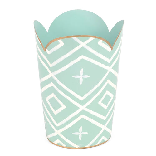 Maize Aqua Tulip Wastebasket