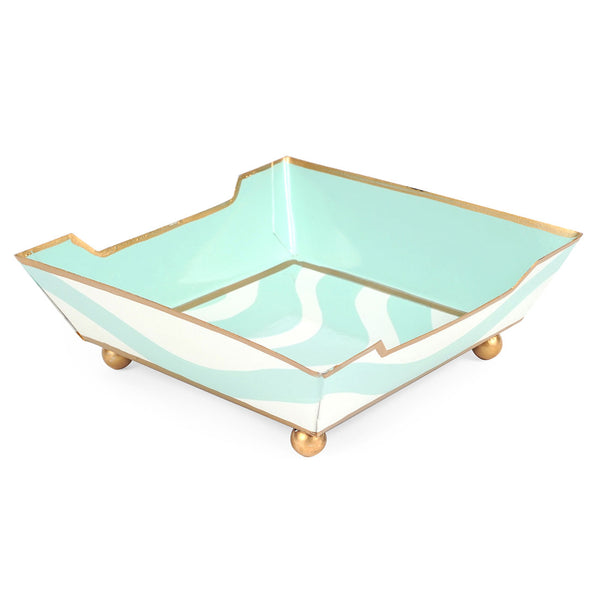 Breakers Aqua Cocktail Napkin Tray