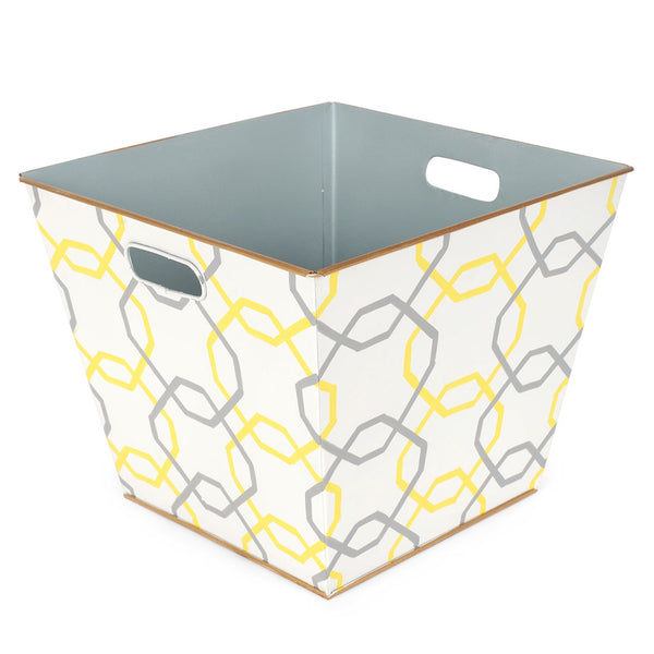 Squares Yellow Storage Bin